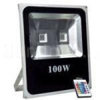 Refletor Holofote Led 100w Rgb Externo Controle Remoto Ip66