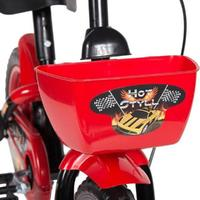 Bicicleta Infantil Aro 12 Styll Hot Preto e Vermelho