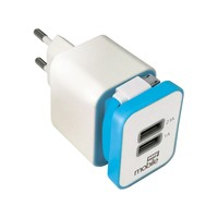 Carregador Parede Mobile Smart USB Branco e Azul