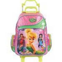 Mochila Escolar Infantil Fadas Tinker Bell Rodinhas Dermiwil 37077
