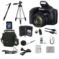 Câmera Digital Canon Powershot SX520HS 16.0MP + Cartão SD 8GB + Super Kit de Acessórios
