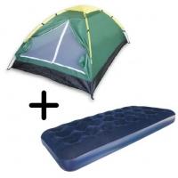 Barraca De Camping 2 Pessoas Kit 1 Colchão Solteiro