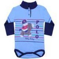 Body Polo M/L Ponei 371 Marinho - Nilly Baby