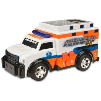 Ambulância DTC Road Rippers Mini Rush & Rescue Branca e Laranja