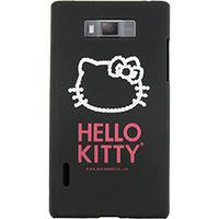 Capa para Celular Case Mix Optimus L7 Hello Kitty Cristais Preta