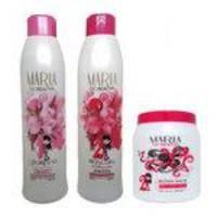 Escova Progressiva Maria Escandalosa (2 X 1000ml) + Botox Capilar White Maria Escandalosa - 1 Kg