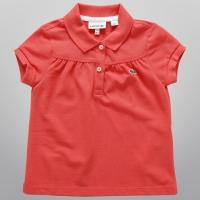Camisa Polo Lacoste Infantil Feminina Vermelha   JáCotei acb0632318