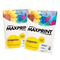 Etiqueta Para Impressora A Laser Com 100 Folhas 25 4x63 5mm 494427 Maxprint