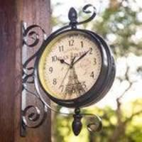 45e8984e3dc Relógio De Estação De Parede Dupla Face Vintage Retrô L047 Ø22cm - 875  Ville de Paris