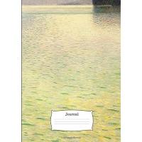 Journal: 7x10 Inch Gustav Klimt Fine Art Painting Print - Insel Im Attersee