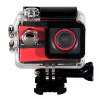 Câmera de Ação Xtrax Smart 4K Vermelha e Preta