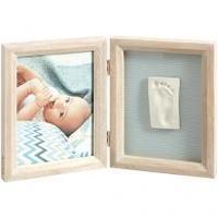 Porta-Retrato de Madeira 13,5x13,5 1 Foto Stormy Baby Art My Baby Touch
