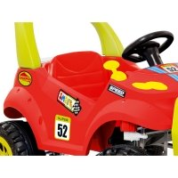 Mini Carro Bandeirante Smart Car 468 2 em 1 Vermelho e Amarelo