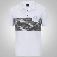 Camisa Polo Oakley Neo Camuflada Masculina Branca  5b2ce7208582f