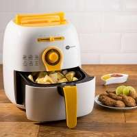Fritadeira Fun Kitchen Colors Fritalight Branca com Amarelo 110V