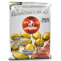 Suplemento Midway Albumina Refil Chocolate 500g