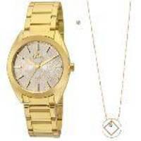 43d9a450d12c1 Relógio Allora Feminino Encanto da Sereia AL2035FFU K4B - Dourado ...