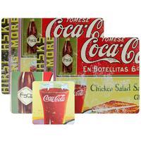 Jogo Americano e Porta-copos Coca-Cola 4 peças