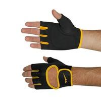 Luva Para Musculação NeoGlove Ahead Sports NGMA Preta e Amarela Tamanho M