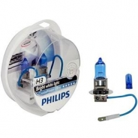 Kit Lâmpada Do Farol Philips H3 Crystal Vision Ultra 4300k luz Branca