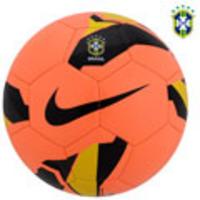 5432d3bce1 Bola de Futebol de Futsal Nike 5 Rolinho Menor CBF Laranja e Preta ...