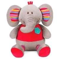Pelúcia Moas Meu Elefantinho Listrado Cinza