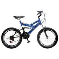 Bicicleta Colli Bike GPS Pro Aro 20 21 Marchas Dupla Suspensão Freio V-brake Azul