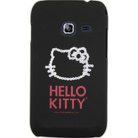 Capa para Celular Case Mix Galaxy Ace Duos Hello Kitty Cristais Preta