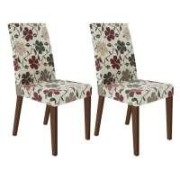 Conjunto 2 Cadeiras 4129 Madesa Rustic hibiscos