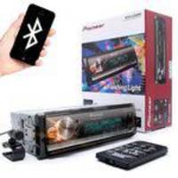 MP3 Pioneer MVH-X300BR Flashing Light Mixtrax USB AUX RDS Entrada para controle de volante Bluetooth