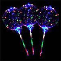 Balão Bubble Transparente Luz Led E Vareta Para Decoração Festas
