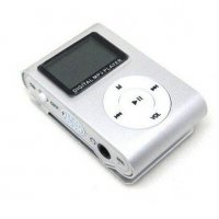 MP3 Player com Visor Entrada SD CARD Cinza