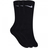 Meia Nike Swoosh Cano Alto Kit Com 3 Pares Adulto Preto