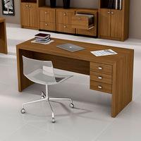 Mesa para Escritório Tecno Mobili ME4113 3 Gavetas Amêndoa