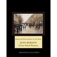 Boulevard Poissonniere in the Rain: Jean Beraud Cross Stitch Pattern