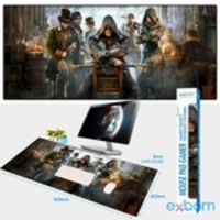 Mouse Pad Gamer Extra Grande 90x40cm Bordas Costuradas Assassin's Creed - Exbom MP-9040A mousepad