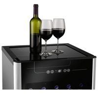Adega de Vinhos Electrolux ACS24 24 Garrafas Preto e Inox 110V
