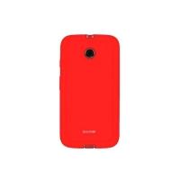 Capa para Motorola Moto E Icover Mycover Colors com Película Protetora Vermelho