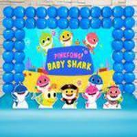 Festa Aniversário Pingfong Baby Shark Kit Ouro