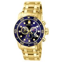 Relógio Invicta Pro Diver Masculino Analógico Dourado
