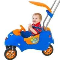 Carrinho De Passeio Kids Car Azul laranja 4020 Homeplay
