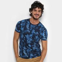 Camiseta Replay Blue Floral Masculina - Masculino