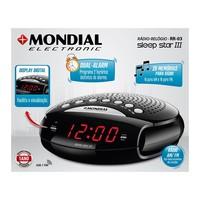 Rádio Relógio AM/FM Display Digital RR-03 Sleep Star III Mondial