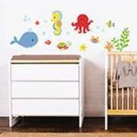 Adesivo de Parede Decorativo Infantil Stixx Kit Fundo do Mar Menino Colorido (46x143x1cm)