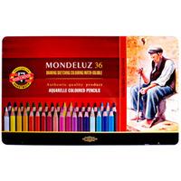 Estojo Koh-I-Noor Metálico Lápis Aquarelável Mondeluz Color c/ 36 Cores