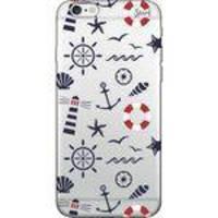 Capa Capinha para Celular Iphone 6 - Spark Cases - Transparente - Objetos do Mar