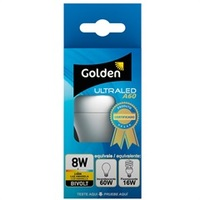 LÂMPADA LED BULBO A60 8W BIVOLT 3000K 654017 Golden