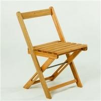 Cadeira Dobrável Mão e Formão Boteco Amarela
