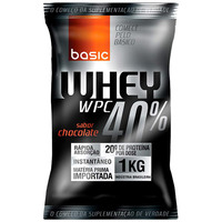 Whey Protein Basic Nutrition 40% Frutas 1Kg