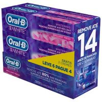 Creme Dental Oral B 3D White 70g 6 Unidades